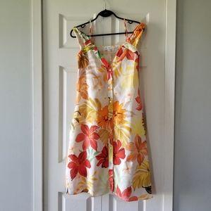 👗ZARA LINEN FLORAL DRESS